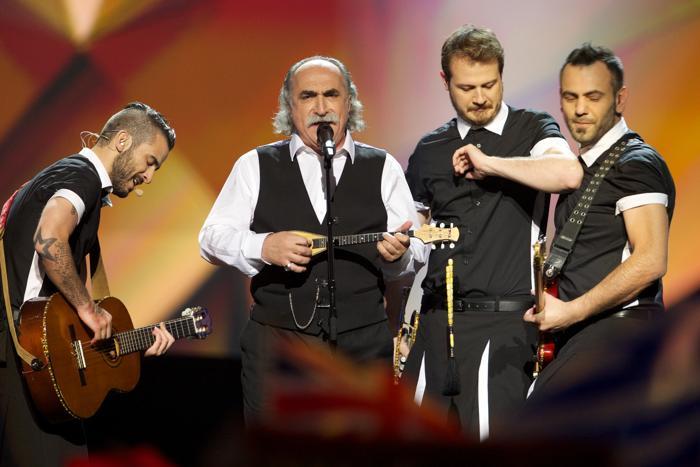 Грек Агафонас Иаковидис во втором полуфинале Евровидения-2013. Фото: Ragnar Singsaas/Getty Images