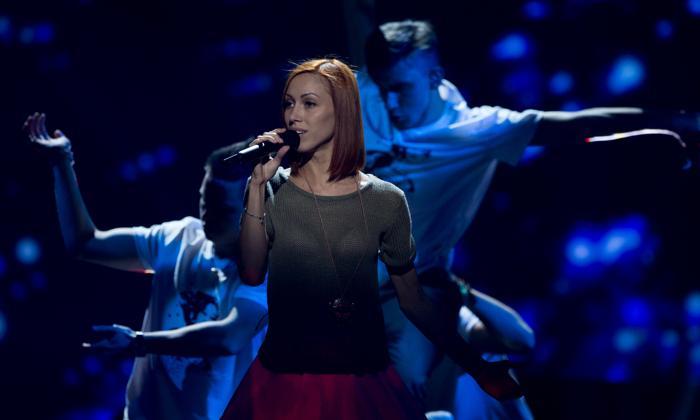 Алёна Мун из Молдовы на генеральной репетиции перед финалом 17 мая 2013 года. Фото: JOHN MACDOUGALL/AFP/Getty Images