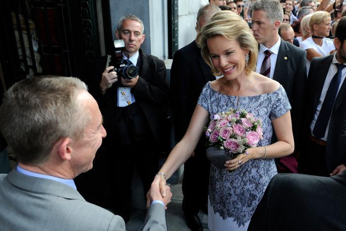 Принцесса Матильда прибыла на праздник в честь отречения и коронации в Брюсселе (Бельгия) 20 июля 2013 года. Фото: David Ramos/Getty Images
