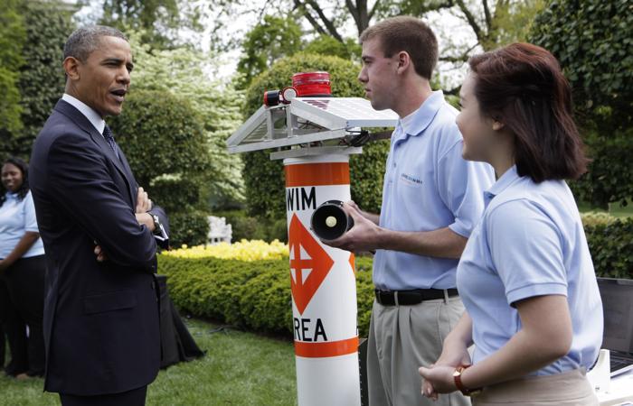 Научная ярмарка прошла в Белом доме. Фото: Aude Guerrucci-Pool/Getty Images