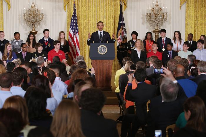 Научная ярмарка прошла в Белом доме. Фото: Chip Somodevilla/Getty Images