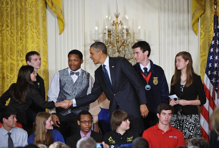 Научная ярмарка прошла в Белом доме. Фото: MANDEL NGAN/AFP/Getty Images