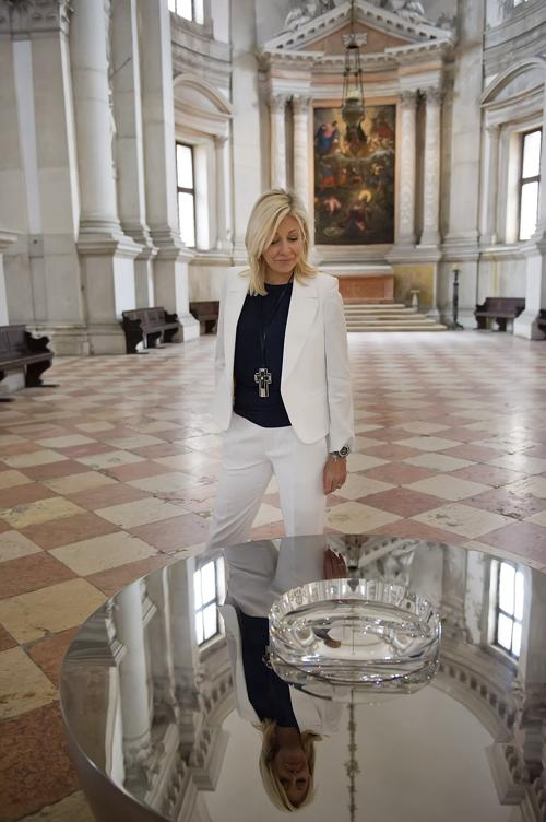 Надя Сваровски прибыла на презентацию экспозиции Svarovsky. Фото: Marco Secchi/Getty Images