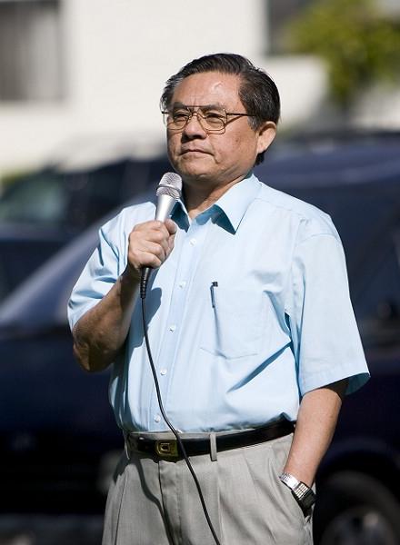 Выступает президент переходного правительства Китая г-н У. Фото: Ji Yuan/The Epoch Times