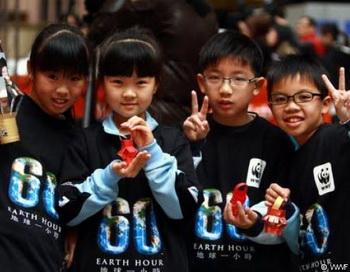 Акция «Час Земли» в Гонконге. Фото: wwf.ru