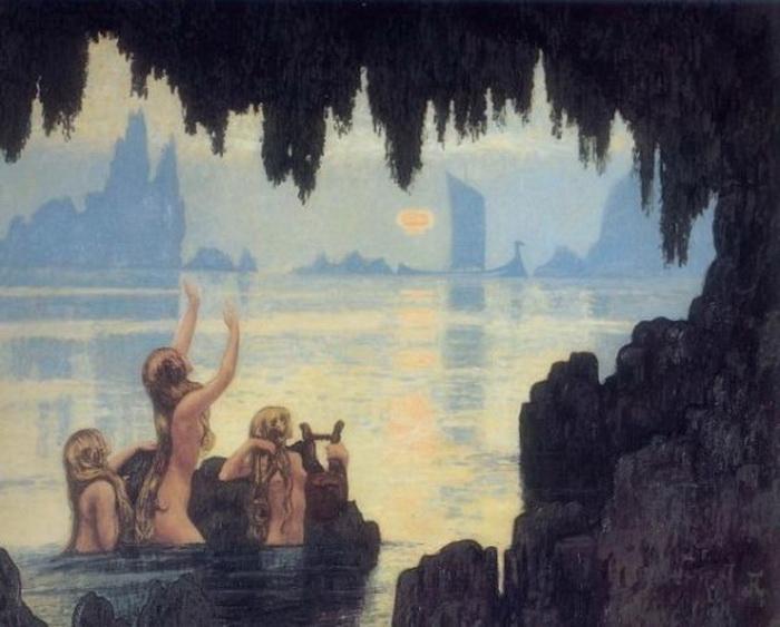 «Сирена», Джон Уильям Уотерхаус, 1900г. Фото: Public domain