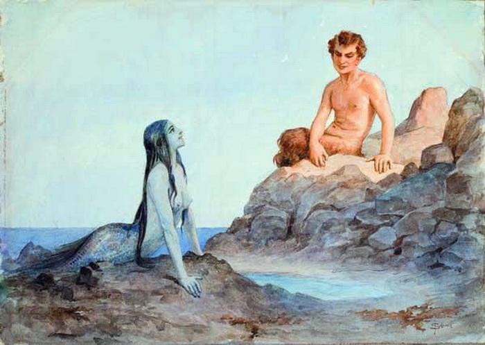 «Поимка русалки», Джеймс Кларк Хук, 1883г. Фото: Public domain