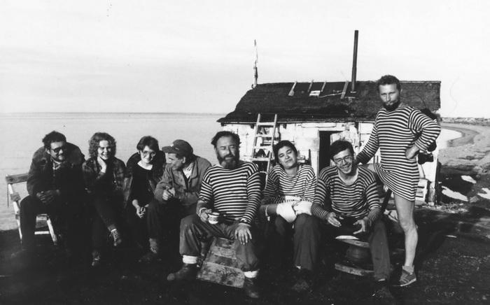 Экспедиция 1990 г. в Заполярье, в Нордвик, в поисках остатков северных лагерей. Фото предоставлено А. Бабием