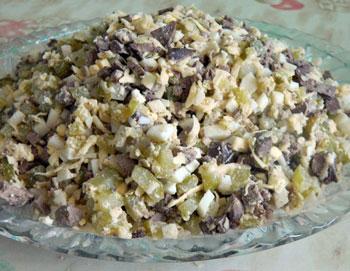 салат из куриной печени рецепты фото
