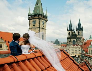 Свадьба на крыше. Фото: svadba-msk.ru