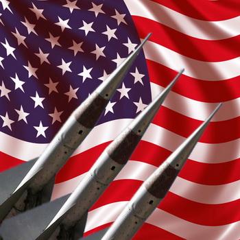 Флаг США и система ПРО. Коллаж РИА Новости