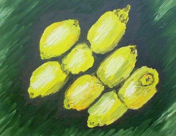 Литературные этюды. Мои лимоны. Рисунок автора