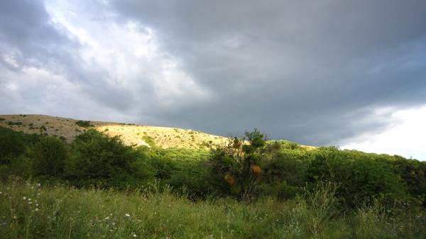 Крым. Урочище Красных пещер. Вид на Долгоруковскую яйлу. Фото: Надежда Калинина