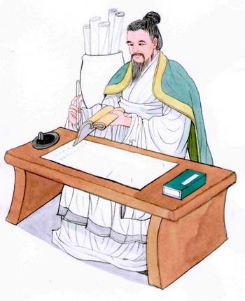 Сыма Цянь, создатель первой полной истории Китая. Иллюстрация: Блу Сяо/Великая Эпоха (The Epoch Times)