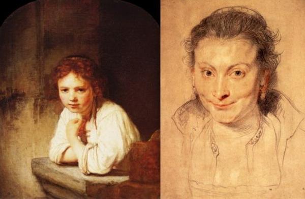 Слева: «Девушка у окна», Рембрандт, 1645г. (Справа) «Портрет Изабеллы Брандт», первой жены Питера Поля Рубенса, 1621г. Фото предоставлено Artrenewal.org