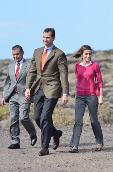 Принц и принцесса Испании Фелипе и Летиция посетили Эль-Йерро. Фото: Torsten Laursen/Getty Images