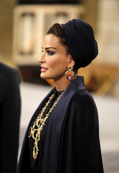 Принцесса Катара Мозах бинт Нассер аль-Мисснед на официальной церемонии принятия присяги короля Виллема-Александра в Нидерландах 30 апреля 2013 года. Фото: Peter Dejong - Pool/Getty Images
