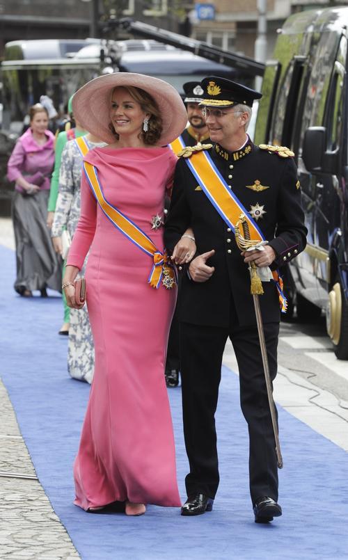 Принцесса Бельгии Матильда и принц Бельгии Филипп на официальной церемонии принятия присяги короля Виллема-Александра в Нидерландах 30 апреля 2013 года. Фото: Toussaint Kluiters-Pool/Getty Images