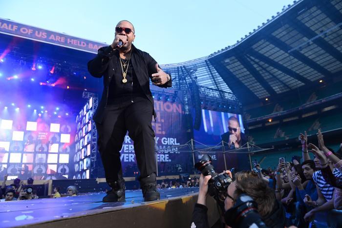 Timbaland на концерте в защиту женщин в Лондоне. Фото: Ian Gavan/Getty Images for Gucci