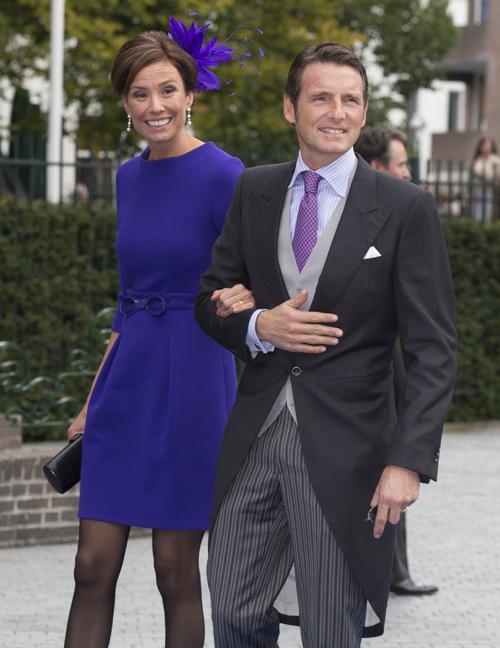 Принц Мауритс и принцесса Марилен на свадьбе принца Хайме де Бурбон-Парме и венгерки Виктории Червеняк 5 октября 2013 года в нидерландском городе Апелдорне. Фото: Michel Porro/Getty Images
