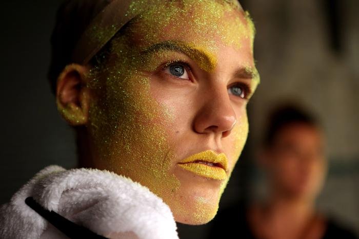 Фейс-арт представили на неделе моды 2013. Фото: Brendon Thorne / Getty Images