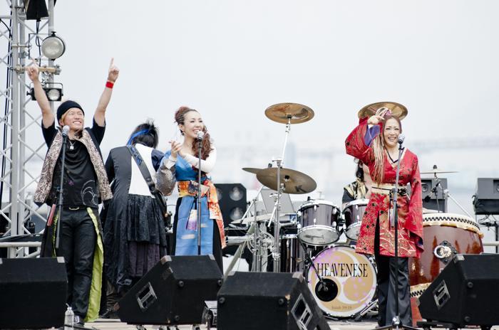 Heavenese выступили на портовом фестивале в Йокогаме (Япония). Фото: Keith Tsuji/Getty Images