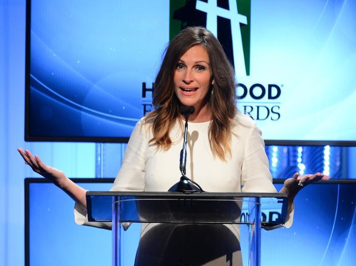 Джулия Робертс на вручении 17-й ежегодной кинопремии Голливуда Hollywood Film Awards 21 октября 2013 года в Беверли-Хиллз, Калифорния (США). Фото: Mark Davis/Getty Images