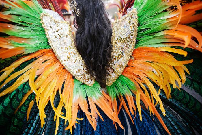 Во второй, завершающий день карнавала Ноттинг-Хилл 2013 состоялся праздничный парад на одноимённой улице Лондона 26 августа 2013 года. Фото: Matthew Lloyd/Getty Images