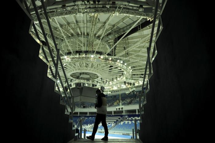Арена Большого ледового дворца в олимпийском Сочи, 26 сентября 2013 года. Фото: MIKHAIL MORDASOV/AFP/Getty Images
