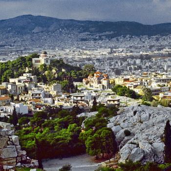 Вид на город Афины. Фото РИА Новости