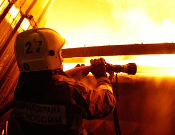 Тушение пожара. Фото РИА Новости