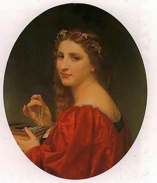 «Жемчужное ожерелье», Уильям Бугро, 1868 год, масло, холст, 55 x 45.5 см. Фото предоставлено Museo de Arte de Ponce, Puerto Rico, The Luis A. Ferrй Foundation, Inc