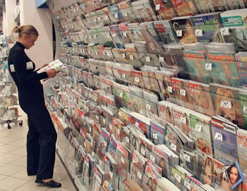 Журнальный стенд. Фото РИА Новости