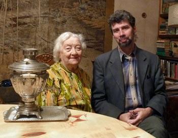 Наталья Слободян и правнук Глиэра во Львовской квартире украинской Улановой.  Фото предоставлено Кириллом Новосельским