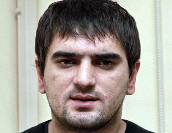 Аслан Черкесов, обвиняемый в убийстве футбольного болельщика Егора Свиридова. Фото РИА Новости