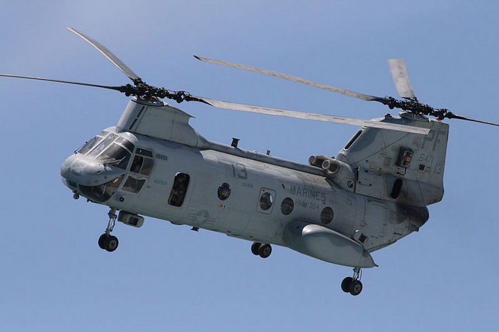 Транспортные американские вертолёты СН-46Е уходят на пенсию. Фото: Andrew Schmidt/commons.wikimedia.org