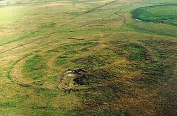 Вид Аркаима с самолёта. Фото с сайта www.arkaim-center.ru