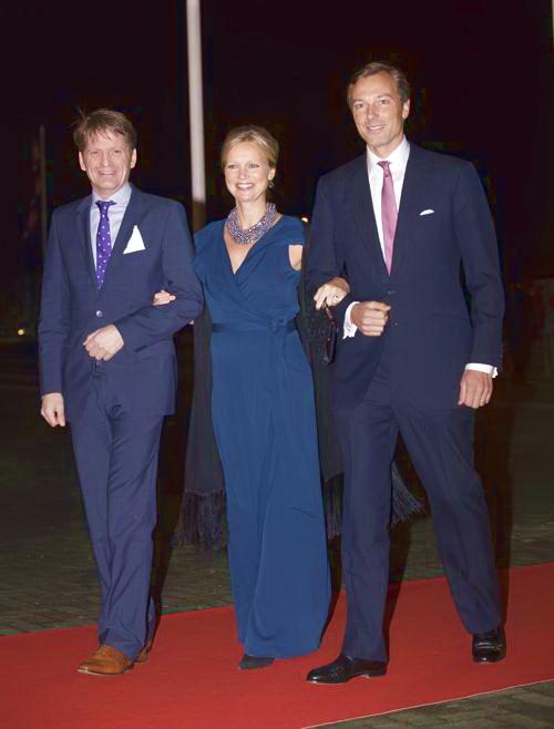 Принц Нидерландов Питер-Кристиан, принцесса Каролина и Альберт Бреннинкмайер 1 февраля 2014 года на праздновании дня рождения принцессы Беатрикс, ранее царствующей в Нидерландах. Фото: Robin Utrecht-Pool/Getty Images