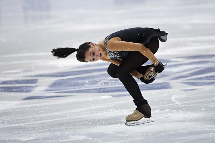 Елизавета Туктамышева выиграла третье место на турнире по фигурному катанию в Финляндии 6 октября 2013 года. Фото: Roni Rekomaa/AFP/Getty Images