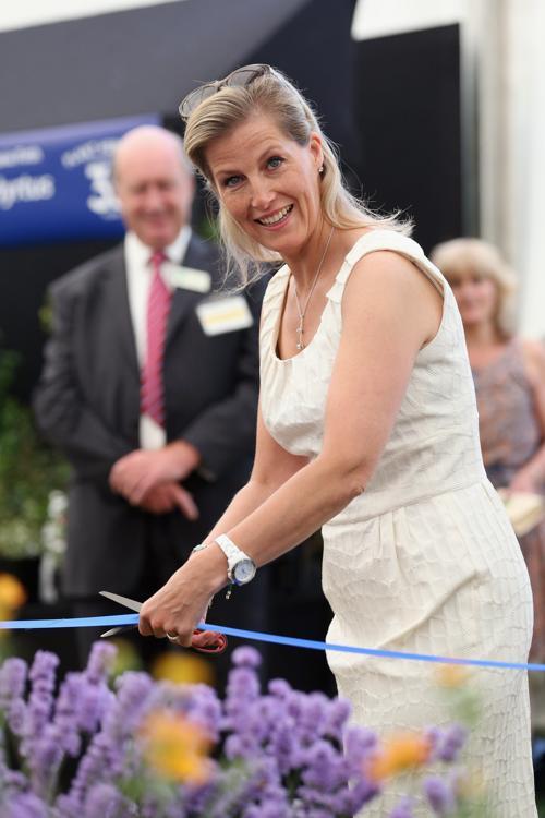 Графиня Уэссекса Софи перерезала ленточку на открытии выставки цветов в лондонском  Дворце Хэмптон Корт 8 июля 2013 года. Фото: Oli Scarff/Getty Images