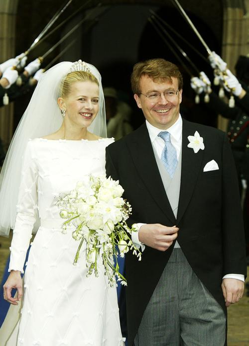 Свадьба принца Йохан Фризо и принцессы Мэйбл  24 апреля 2004 года в Делфте. Фото: Pascal Le Segretain/Getty Images