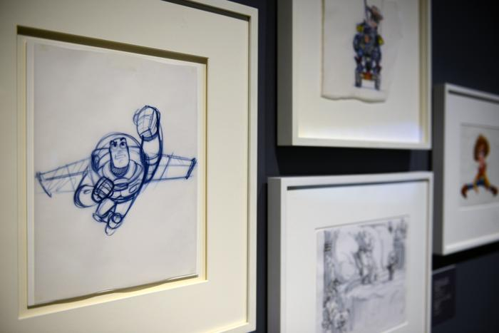 В художественном музее Парижа 14 ноября 2013 года прошла презентация выставки к 25-летию анимационной киностудии Pixar — самой успешной компании анимации в киноиндустрии. Фото: Antoine Antoniol/Getty Images