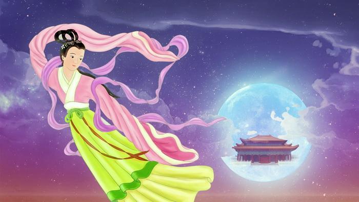 Чан Э в печали смотрит на Землю из своего лунного дворца. Иллюстрация: Эми Чан/Великая Эпоха