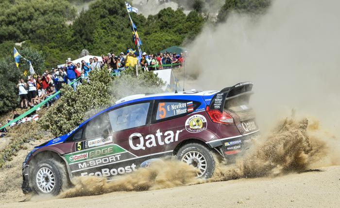 Евгений Новиков занял второе место в классификации Ралли Италии 20 июня 2013 года. Фото: ANDREAS SOLARO/AFP/Getty Images