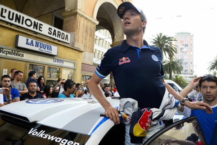 Третьим в квалификации стал француз Себастьен Ожье на Ралли Италии 20 июня 2013 года. Фото: ANDREAS SOLARO/AFP/Getty Images