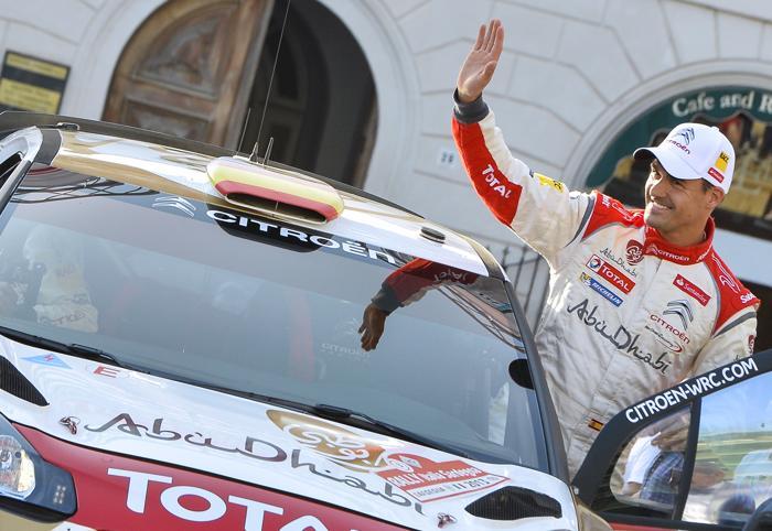 Испанский водитель Дани Сордо в квалификации Ралли Италии 20 июня 2013 года. Фото: ANDREAS SOLARO/AFP/Getty Images