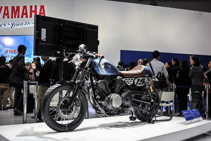 Yamaha представила новый концепт-байк на открывшемся 20 ноября 2013 года автосалоне в Токио. Фото: Keith Tsuji/Getty Images