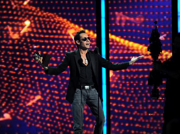 Лауреат премии «Латинская Грэмми 2013» Марк Энтони выступил на церемонии вручения наград 21 ноября 2013 года в Лас-Вегасе (США). Фото: Ethan Miller / Getty Images для LARAS