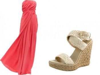 Драпированное платье без бретелек от Thakoon, $1,350, shopbop.com. Эспадрильи Alex от Stuart Weitzman, $365, endless.com. Фото: Pialy Aditya