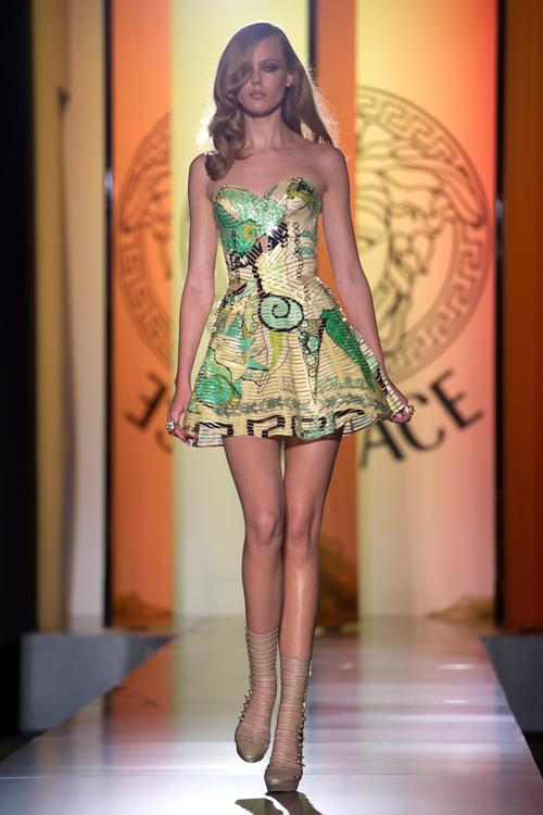 Versace Haute Couture на Парижской Неделе моды сезона осень-зима ...
